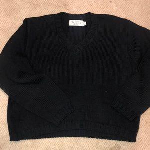EUC BKG&Co New York all size black cotton sweater